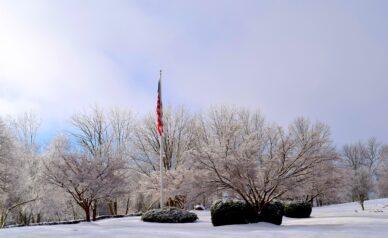 Flagpole Snow